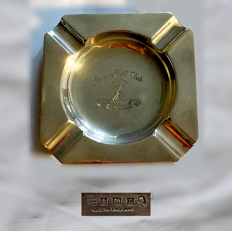 Troon silver ashtray