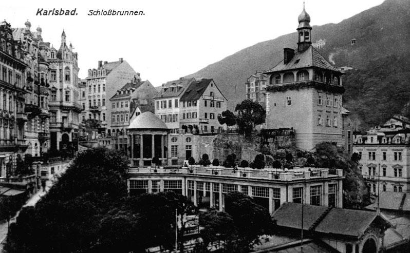 Carlsbad postcard around 1907