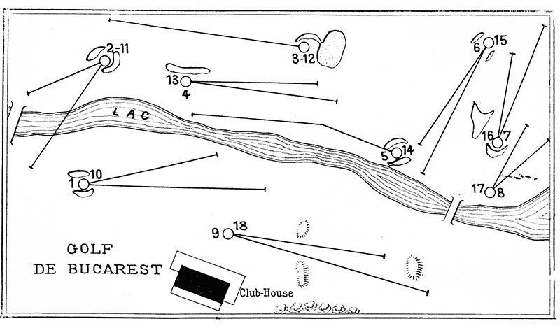 Layout of the course at the Bucharest Country Club, 1931