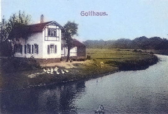 Postcard view of clubhouse at Leipzig Gaschwitz ca 1920