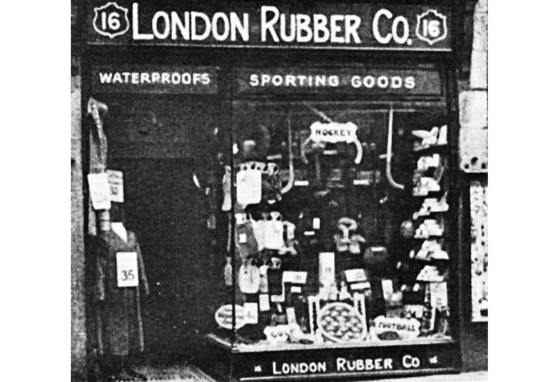 The London Rubber Company shop in the 1890s