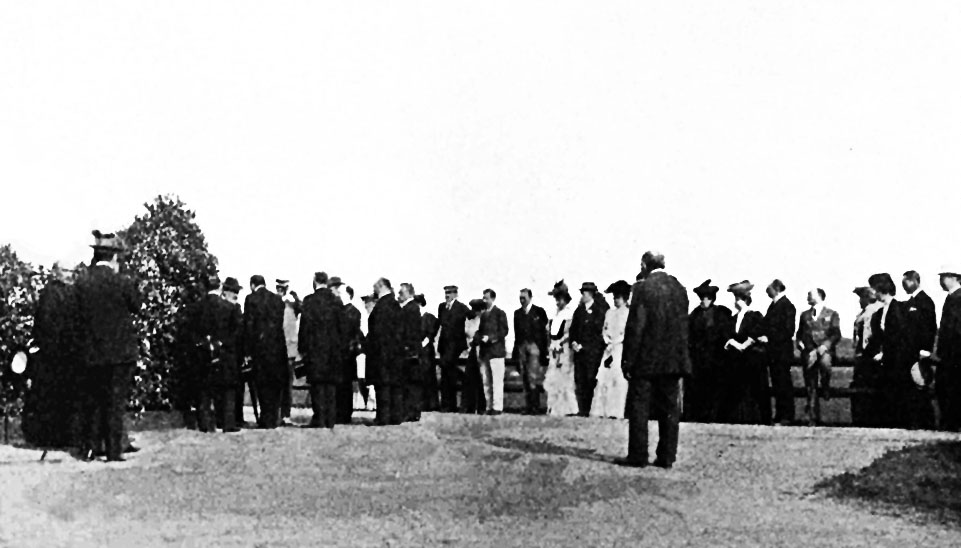 The opening of the Marienbad course in 1905