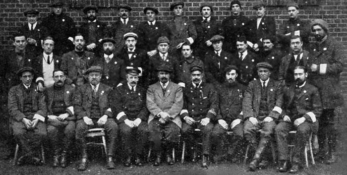 Ruhleben's civilian police led by C S Butchart (centre)