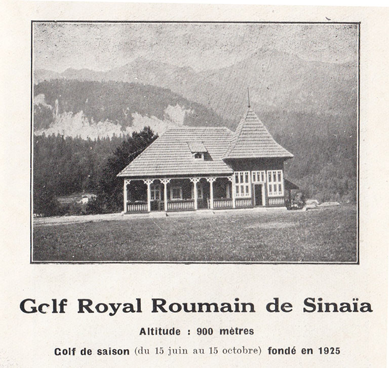 Royal Romanian Golf Club, Sinaia, 1931