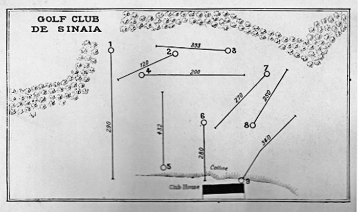 Golf course map, Sinaia, 1931