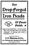 J H Williams drop-forged advertisement